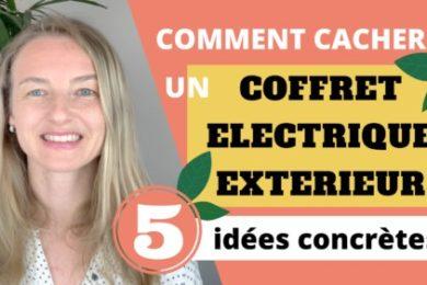 comment cacher un coffret électrique exterieur, des idées de paysagiste